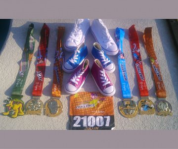 Just some of Julian's medals