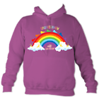 Adult Rainbow Hoodie in Pinky Purple