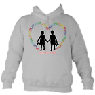 Child's Heart Hoodie in Heather Grey