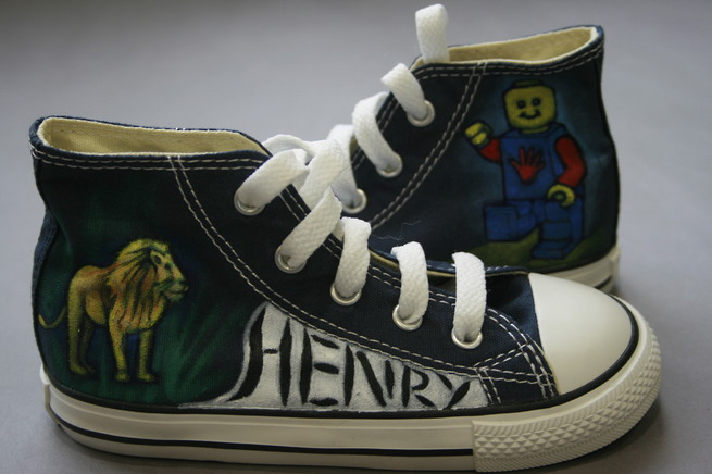 Henry with their Supershoes