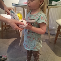 Orla in her Supershoes