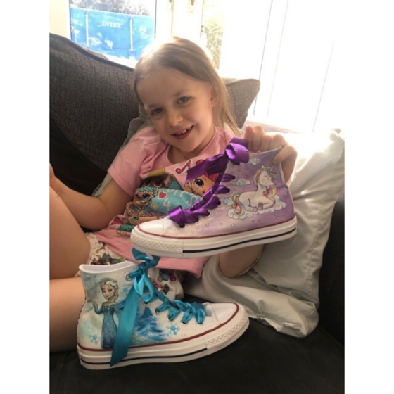 Super Maisy with their Supershoes